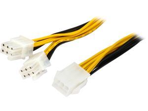 Coboc PCIE6SPL26P-6 6.1 in. 6-pin PCIe to Two(2) x PCIe 6-pin PCI Express Video Card 'Y' Splitter Power Cable Female to Male