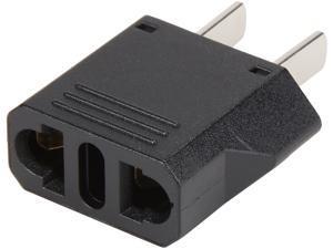 Coboc European to USA 2-Pin Power Adapter, Type C EU to Type A USA & Canada Travel Adapter Plug, 2 Prong Universal Power Converter