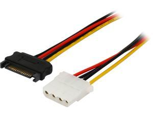 Rosewill SATAMLP4F-12 1 ft. SATA Male to 4 pin Molex LP4 Female IDE Hard Drive Power Adatper Converter Cable, M/F