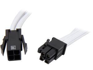 BitFenix BFA-MSC-4ATX45WK-RP 1.47 ft. Intel ATX-4 pin Extension Cable Male to Female
