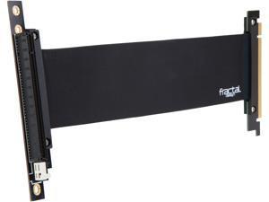 Fractal Design Flex VRC-25 PCIE x16 Extender and Vertical GPU Riser Card Adapter - Black