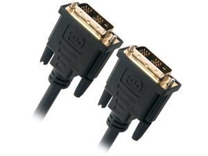 Omni Gear DVI-3 Black 3 ft. DVI-D Dual-Link(24+1) Male to Male 28AWG Cable w/ Ferrite Cores, Gold Plated