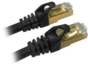 QVS CC716-07 7 ft. Cat 7 Black 7ft CAT7 10Gbps S-STP Flexible Molded Patch Cord