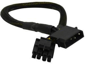 1ST PC CORP. CB-4M-8F 1 ft. 8-pin/P4+P4-pin EPS female converted from molex 4-pin male Cable