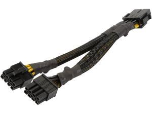 """1ST PC CORP. CB-EPS8-Y 7"""" Black 1X EPS 8-pin female to 2X EPS 8-pin female Cable"""