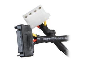 1ST PC CORP. CB-SATA-4P8 8 in. SATA 15-pin to Molex 4-pin Female Cable Adapter Male to Female