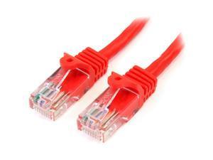 StarTech.com Snagless UTP Patch cable - RJ-45 (M) - RJ-45 (M) - 0.9 m - UTP - ( CAT 5e ) - red