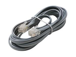 """4 Feet Grey Telephone Cable Rj11 6p4c 48/"""" Phone Line Cord 4ft 2 Pack"""