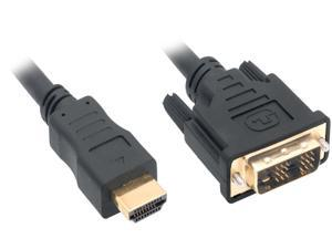 Nippon Labs DVI 2 HDMI 6 ft. HDMI Male to DVI-D Adapter Cable with Gold-plated Connector, Black
