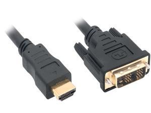 Nippon Labs DVI 3 HDMI 10 ft. HDMI Male to DVI-D Adapter Cable with Gold-plated Connector, Black