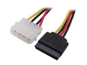 """Nippon Labs Molex to SATA Power Adapter Cable Convertor 8"""" Molex to 15 pin SATA Power Cord for SATA I and SATA II Hard Drive  Model SATAPC"""