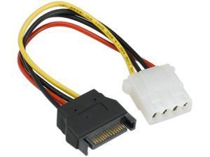 Nippon Labs SATA to Molex Power Adapter SATA-FM SATA 15 Pin male to Molex 4 pin female adaptor Cable for SATA I and SATA II Hard Drive Model SATA-FM, 7 Inches