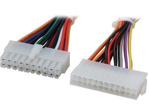 """Nippon Labs POW-10206 6"""" 20 Pin Female to 24 Pin Male ATX Power Extension cable - OEM"""