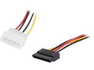 Nippon Labs SATA-15PF3-4PM-1.5 1.5 ft. SATA 15 Pin to SATA 4 pin Cable Multi-Color Female to Male