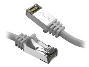 Nippon Labs 60CAT8-7-26GY Cat8 Ethernet Cable 7 feet Slim Series - Gray  2GHz, 40G, S/FTP - Shielded 40Gbps 2000Mhz SFTP Patch Cord,Cat8 RJ45 Cable - in Wall, Outdoor for Router, Modem, etc.