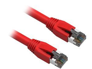 Nippon Labs 60CAT8-10-24RD 10 ft. Cat 8 Red 2GHz, 40G, 24AWG, S/FTP - Shielded Latest 40Gbps 2000Mhz SFTP Patch Cord, Heavy Duty High Speed Cat 8 LAN Network RJ45 Cable