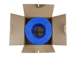 Nippon Labs 50CPE-5E-SD-1K-BL 1000 ft. Bare Copper 24AWG CMR UTP Cat5e Bulk Cable, 350MHz, Solid Wire - Blue