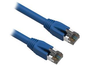 Nippon Labs 60CAT8-2-24BU Cat 8 Ethernet Cable 2 feet - Blue | 2GHz, 40G, 24AWG, S/FTP - Shielded Latest 40Gbps 2000Mhz SFTP Patch Cord - in Wall, Outdoor for Router, Modem, Gaming etc.