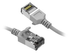 Nippon Labs 60CAT8-0.5-30GY 0.5 ft. Cat.8 U/FTP Slim Ethernet Network Cable Gray 30AWG - Latest 40Gbps 2000Mhz RJ45 Patch Cord
