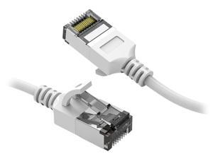 Nippon Labs 60CAT8-10-30WT 10 ft. Cat 8 White U/FTP Slim Ethernet Network Cable 30AWG - Latest 40Gbps 2000Mhz RJ45 Patch Cord