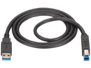 Black Box USB30-0010-MM 10 ft. Black USB 3.0 Cable Type A Male to Type B Male Black 10-ft.