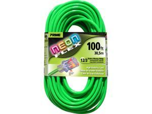 Prime Wire Model NS512835 100 ft. Flex Outdoor Extension Cord With Indicator Light