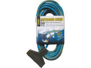 Prime Wire Model KC606730 50 ft. Triple-Tap Heavy Duty Outdoor Extension Cord, Blue