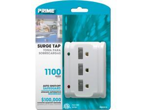 Prime Wire Model PB801120 10 ft. 6-Outlet 4+2 Metal Strip With 10-Foot Cord