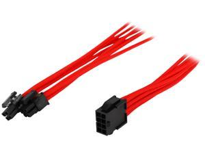 Phanteks PH-CB8P_RD 1.64 ft. (0.50 m) 8 to 8 (4+4 )Pin M/B Premium Sleeved Extension cable