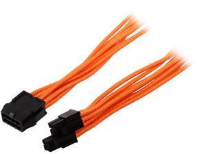 Phanteks PH-CB8P_OR 1.64 ft. (0.50 m) 8 to 8 (4+4 )Pin M/B Extension cable 500mm Length, Orange