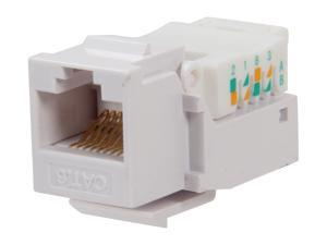 BYTECC RJ45TL-W Cat. 6 Tool Less Keystone Jack - White