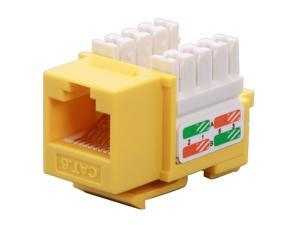 BYTECC RJ45PD-Y RJ45PD-Y Cat. 6 Punch Down Keystone Jack - Yellow