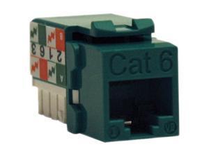 TRIPP LITE N238-001-GN Cat6/Cat5e 110 Style Punch Down Keystone Jack - Green