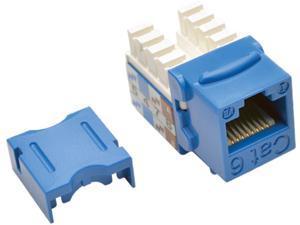 Tripp Lite Cat6/Cat5e 110 Style Punch Down Keystone Jack, Blue, 25-Pack, TAA (N238-025-BL)