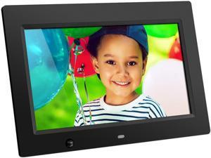 "Aluratek ADMSF310F Aluratek 10 inch Digital Photo Frame with Motion Sensor and 4GB Built-in Memory - 10"" LCD Digital Frame - Black - 1024 x 600 - Cable - 16:9 - Autostart Slideshow, Slideshow,"