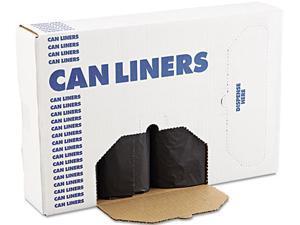 Boardwalk 518 SH-Grade Can Liners, 43 x 47, 56gal, 1.5mil, Black, 10/Roll, 10 Rolls/Carton, 1 Carton