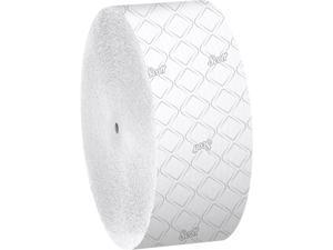 Scott Essential Jumbo Roll Coreless Toilet Paper (07006), 2-PLY, White, 12 Rolls / Case, 1,150' / Roll