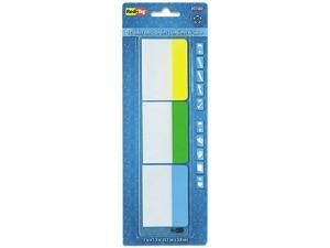 Write-On Self-Stick Index Tabs/Flags, 1 1/2 X 2, Blue, Green, Yellow,