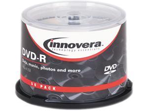 DVD-R Discs, 4.7GB, 16x, Spindle, Silver, 50/Pack 46850