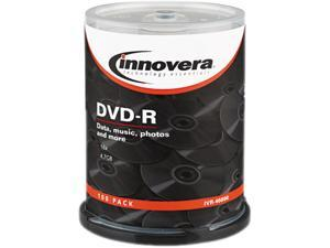 DVD-R Discs, 4.7GB, 16x, Spindle, Silver, 100/Pack 46890