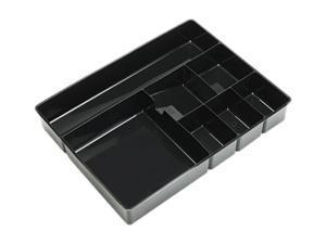 Officemate Deep Desk Drawer Organizer Tray 9-Comp Black 21322