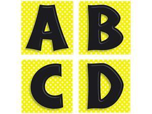 Quick Stick Letters Set, 45 Pieces, Black