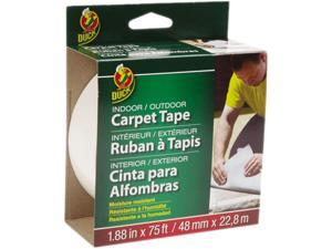 Duck Brand Indoor/Outdoor Fiberglass Double-Sided Carpet Tape: 1.88 in. x 75 ft. (White)