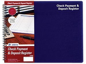 """Adams AFR60 Check Payment & Deposit Register - 96 Sheet(s) - 11"""" x 8 1/2"""" Sheet Size - White Sheet(s) - 1 Each"""