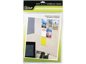 Nudell Clear Plastic Sign Holder All-Purpose 8 1/2 x 11 37085Z