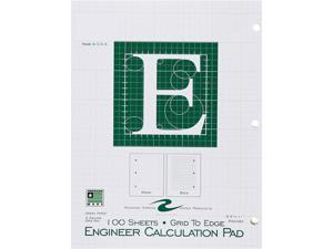 "Roaring Spring 95582 Engineering Pad 100 Sheets Letter 8.50"" x 11"" - 1Each - Green Paper"
