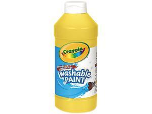 Washable Paint, Yellow, 16 Oz