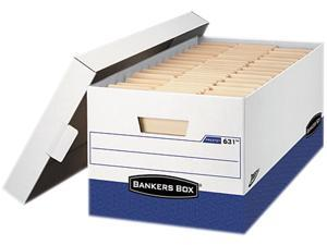 "Fellowes 0063101 - Bankers Box Presto Maximum Strength Storage Box, Ltr 24"", 12"" x 24"" x 10"", WE, 12/Carton"