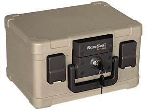 Fire King Fire and Waterproof Chest 0.15 cu ft 12.2w x 9.8d x 7.3h Taupe SS102