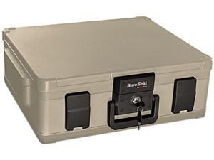 Fire King Fire and Waterproof Chest 0.38 cu ft 19.9w x 17d x 7.3h Taupe SS104